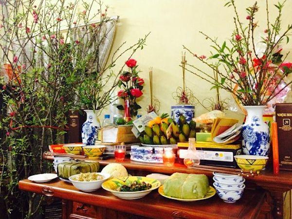 hoa để bàn thờ